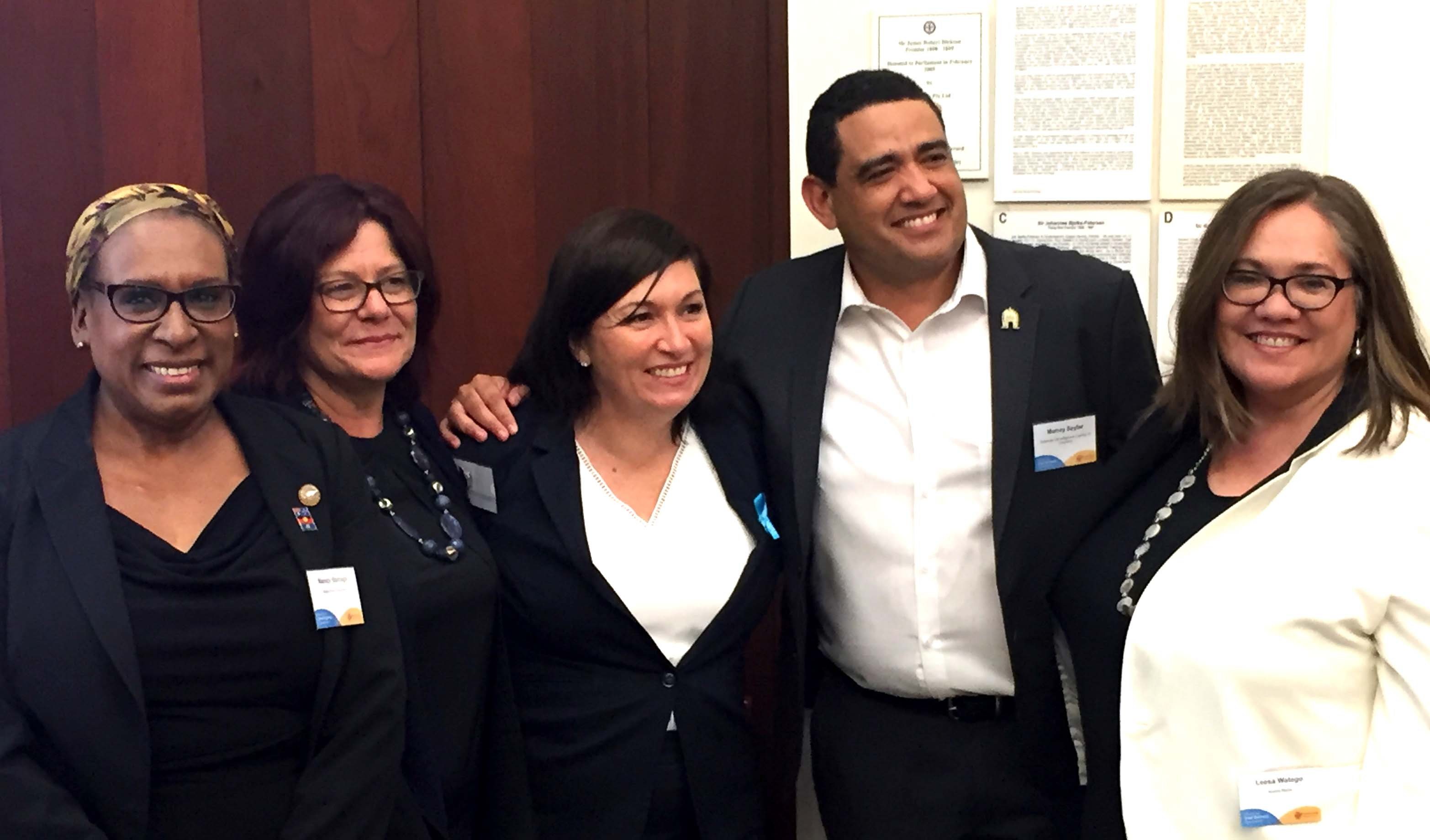 Nancy Bamaga, Karen Seage, Leeanne Enoch, Murray Saylor and Leesa Watego